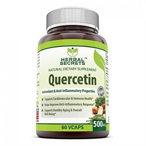 Herbal Secrets Quercetin 500 Mg 60 Vcaps Supports Cardiovascular  Immun 1