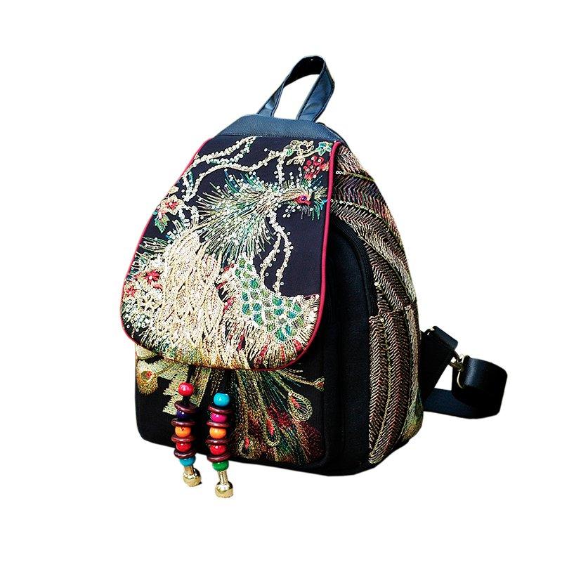 네브 봄가울 여성 장식 조각 복고풍 핸드백 백팩