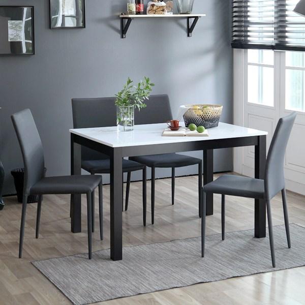 베스트리빙 캘빈하이그로시4인젠식탁세트 일반식탁/의자세트, 웬지, 웬지