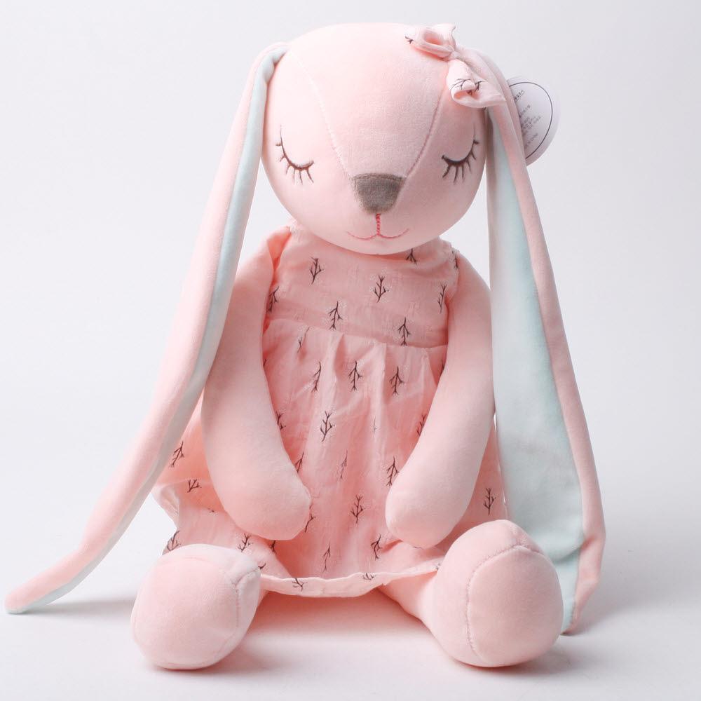 토탈하우스 토끼 애착인형 동물인형 봉제인형 수면인형 토끼인형, 핑크