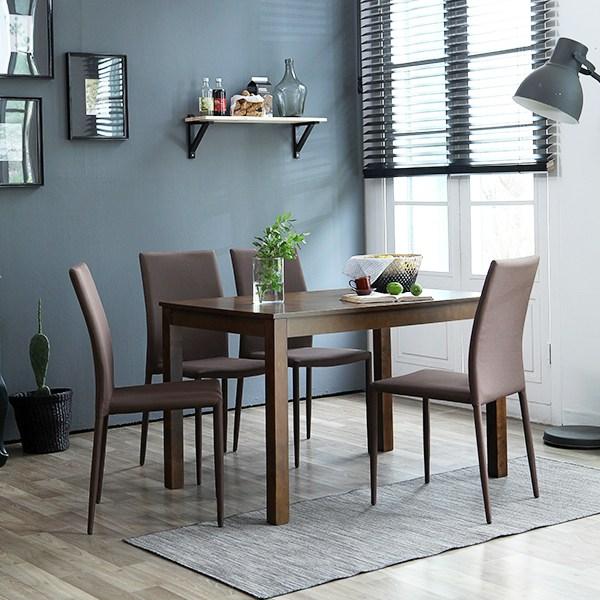 베스트리빙 캘빈원목 4인젠식탁세트 일반식탁/의자세트, 엔틱