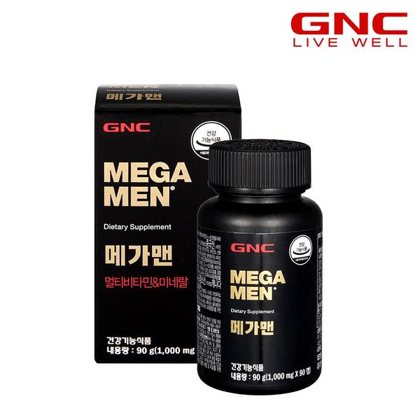 GNC 메가맨 멀티비타민 앤 미네랄 (90정) 45일분, 단품
