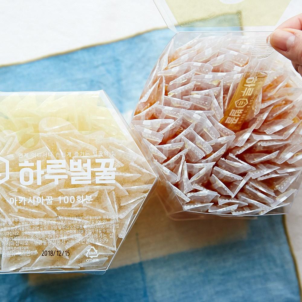삿갓유통 간편한 1등급 순수벌꿀 100 허니스틱 하루벌꿀 아카시아꿀 10g 100회분