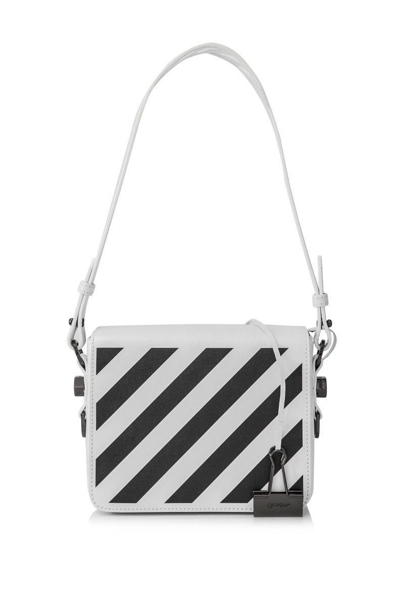 [Off White]Off-White Diagonal Flap Bag