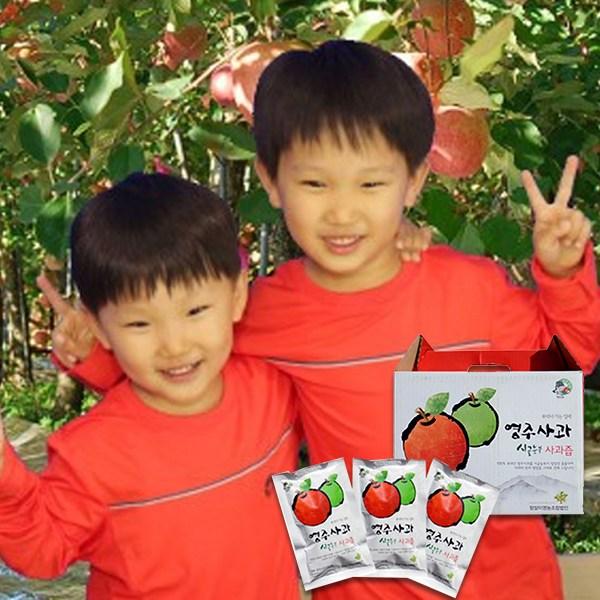 산골농원 소백산 친환경 영주 사과즙, 110ml, 50개