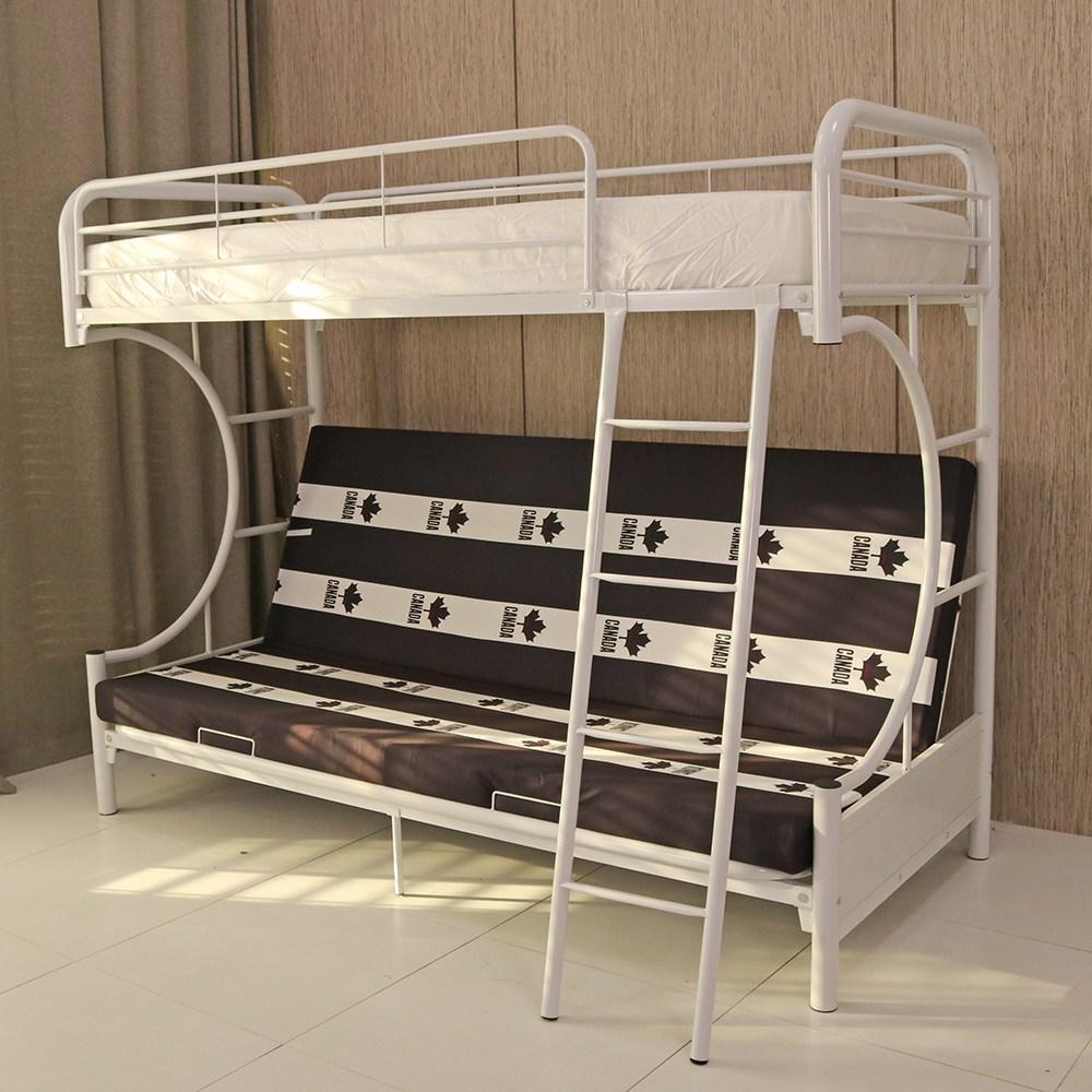 리빙힙 플랙시블 이층침대 2층침대 철제침대 소파침대, 플랙시블 소파침대 화이트 프레임만