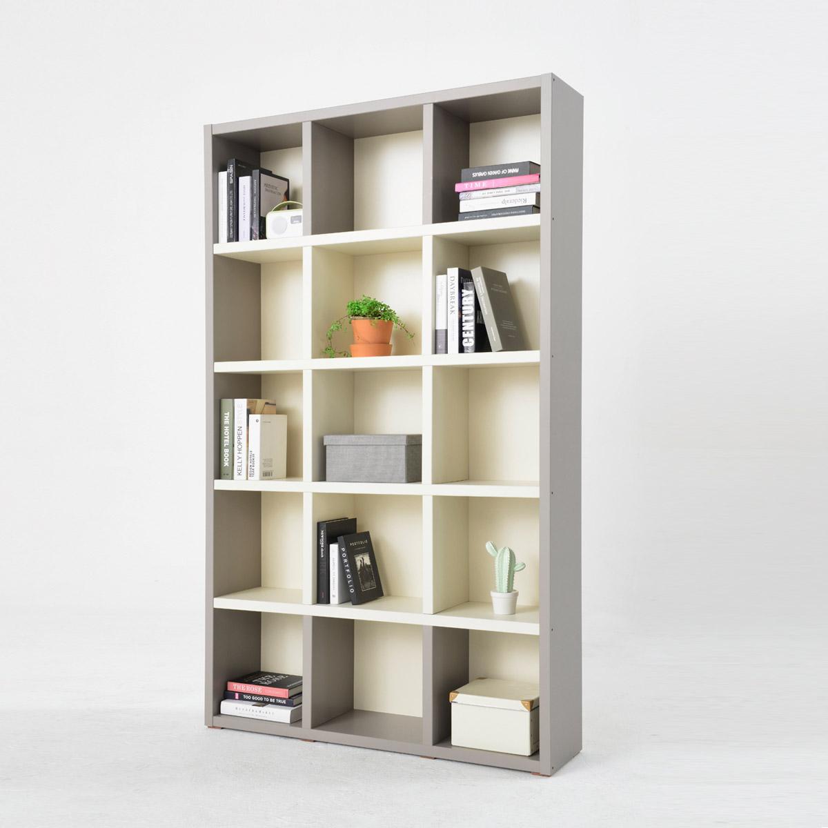 소티디자인 리브로 투톤 5단책장 1200책장 책장 수납장 책꽂이 책장, 그레이크림화이트