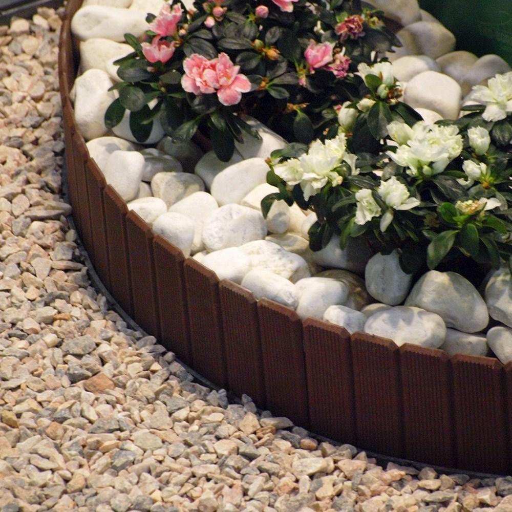 에코보드 정원 울타리 펜스 1m, 1) 에코보드 울타리 (브라운) 17cm x 1m