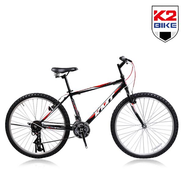 케이투바이크 K2BIKE MTB자전거 KMT26GS 26인치 21단 MTB 자전거, KMT26GS 26인치 21단-블랙+레드