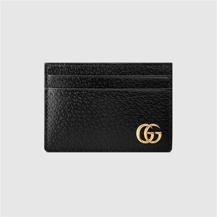 구찌 436022 DJ20T 1000 블랙 GG 마몬트 카드지갑