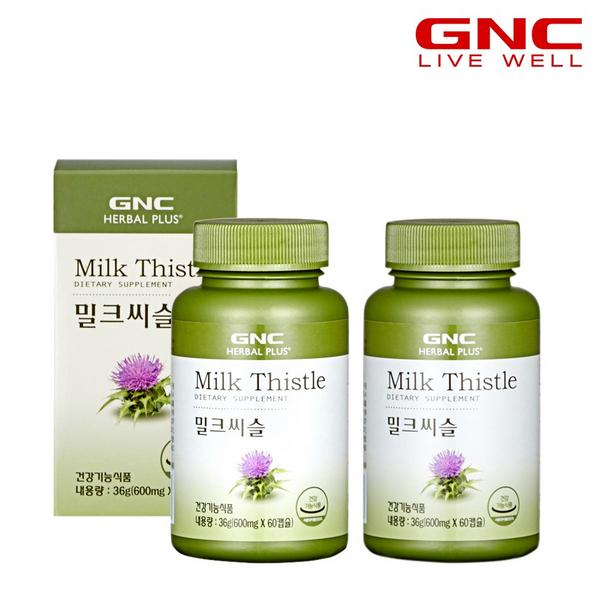 GNC 밀크씨슬 (60캡슐), 36g, 2개
