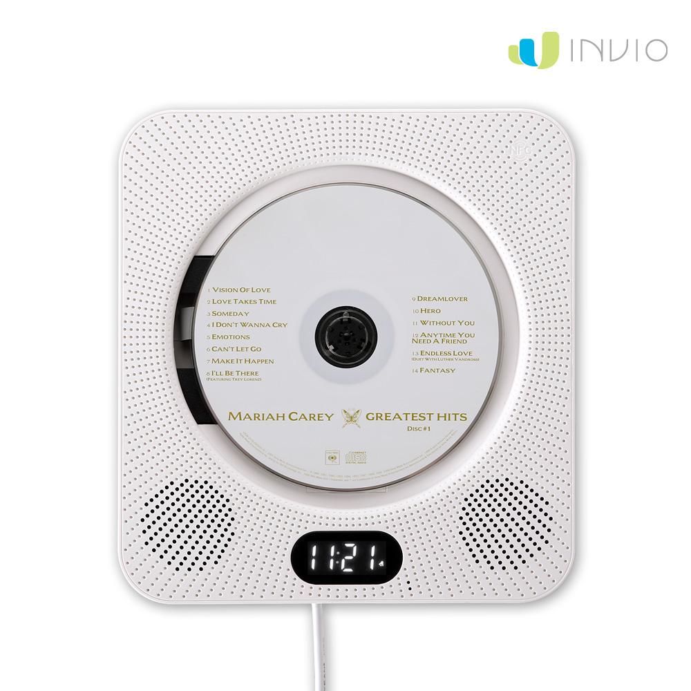 인비오 벽걸이 CD DVD플레이어[스탠드포함] WM-01BT 블루투스스피커