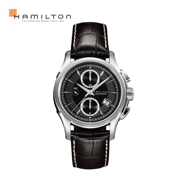 해밀턴 남성가죽시계 재즈마스터 크로노 H32616533