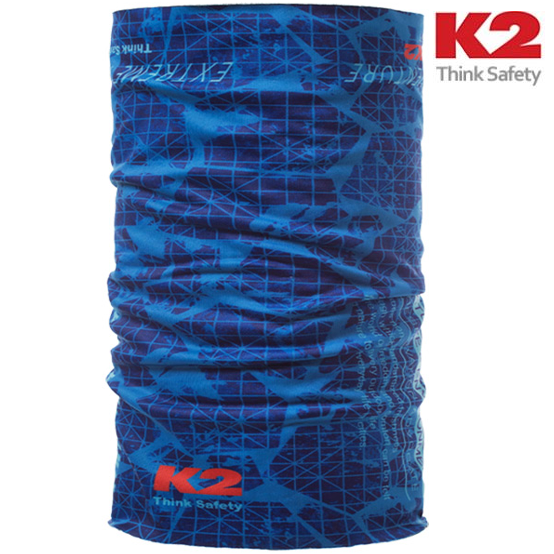 K2 겨울용 멀티스카프(부드러운 융 기모안감 사용 장시간 야외활동 체온 보호), 블루