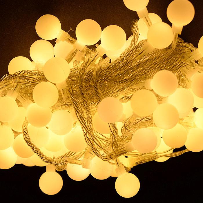LED 100구 앵두전구 메모리형_투명선 전구색, 투명선 전구색