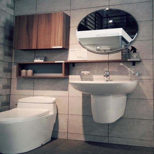[첫사랑이야기] 작은화장실인테리어 인테리어시공해드립니다 ES8418, 블랙