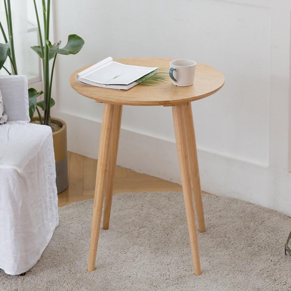 룸스퀘어 원목 카페테이블 커피테이블 티테이블 모음, 06_원형카페테이블600(네추럴)