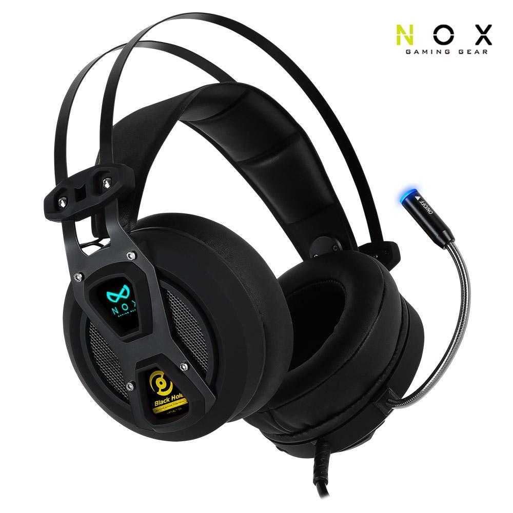 녹스 NX-4 블랙홀 7.1 채널 진동 게이밍 헤드셋