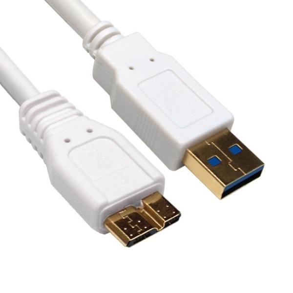 USB3.0 마이크로B 외장하드연결케이블 0.3m~2m 311546, 1개, 2m