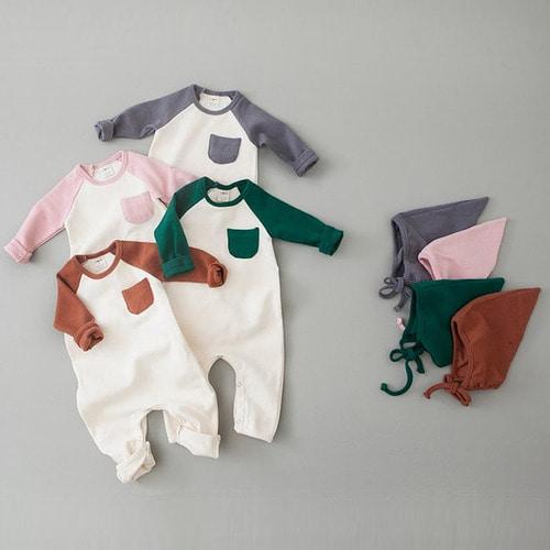 쿠잉키즈 봄아기옷 신생아옷 우주복 신생아외출복 나그랑바디슈트(보넷세트)