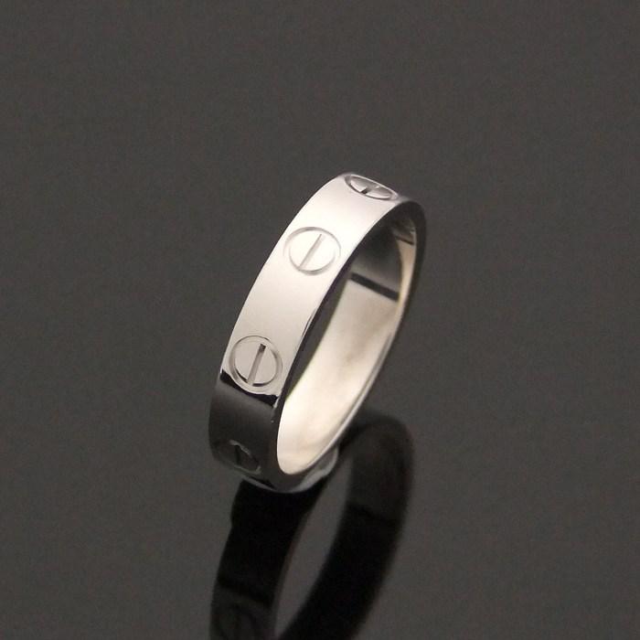 [뉴욕명품] Cartier(까르띠에) 반지 B4085100 18K 화이트골드 미니 러브링(6호)
