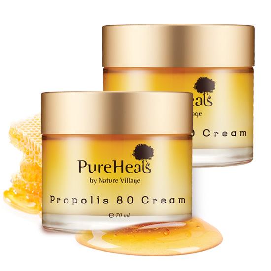 PureHeals 프로폴리스 80 크림 70ml 수분크림, 2개
