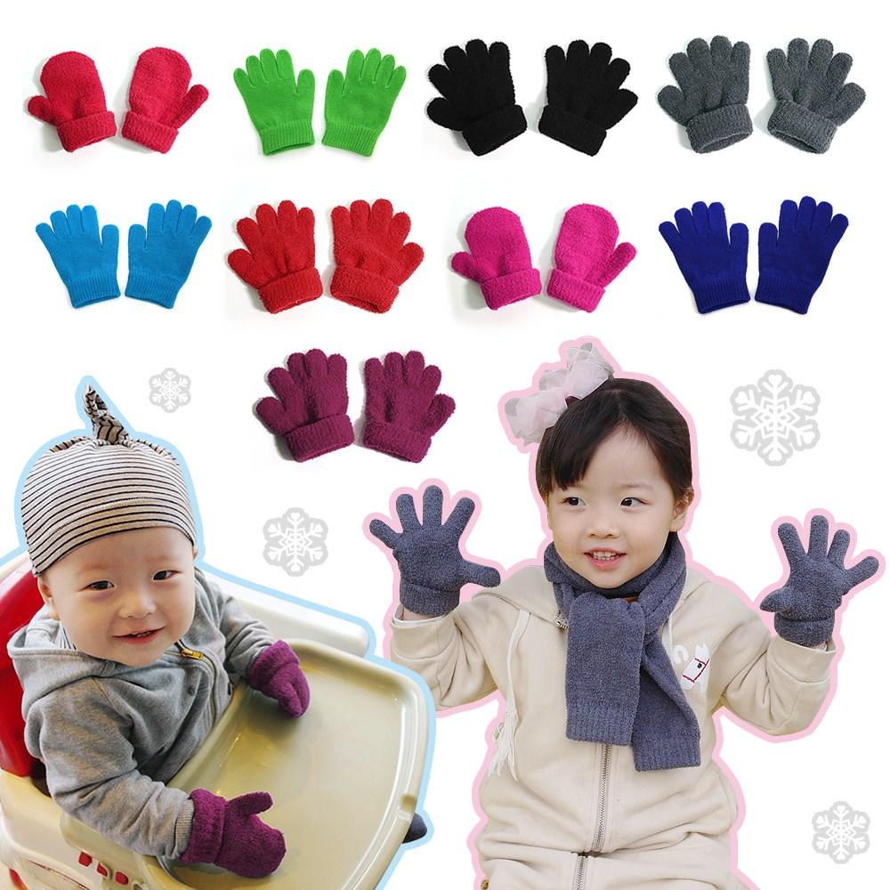 리빙엔터 Kid 귀요미장갑 유아장갑 아동장갑 겨울장갑 어린이장갑 벙어리장갑 손가락 방한장갑 체험장갑