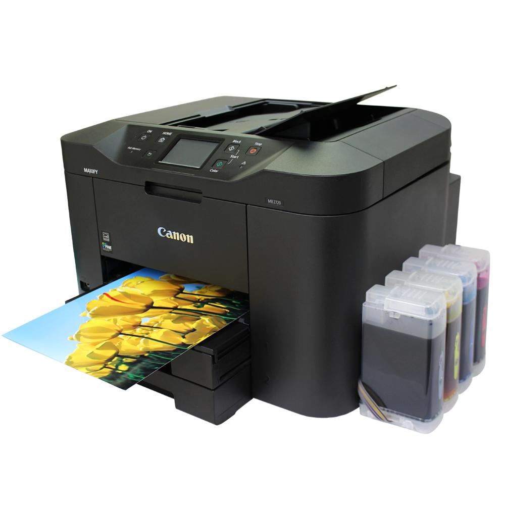 캐논 맥시파이 MB2720 팩스복합기 + 무한잉크, 옵션) 캐논MB2720 복합기 + i300 무한공급기 설치완제품