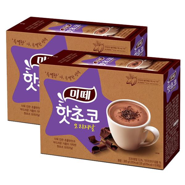 동서식품 미떼 핫초코 오리지날 20티백(10T+10T), 30g, 20개