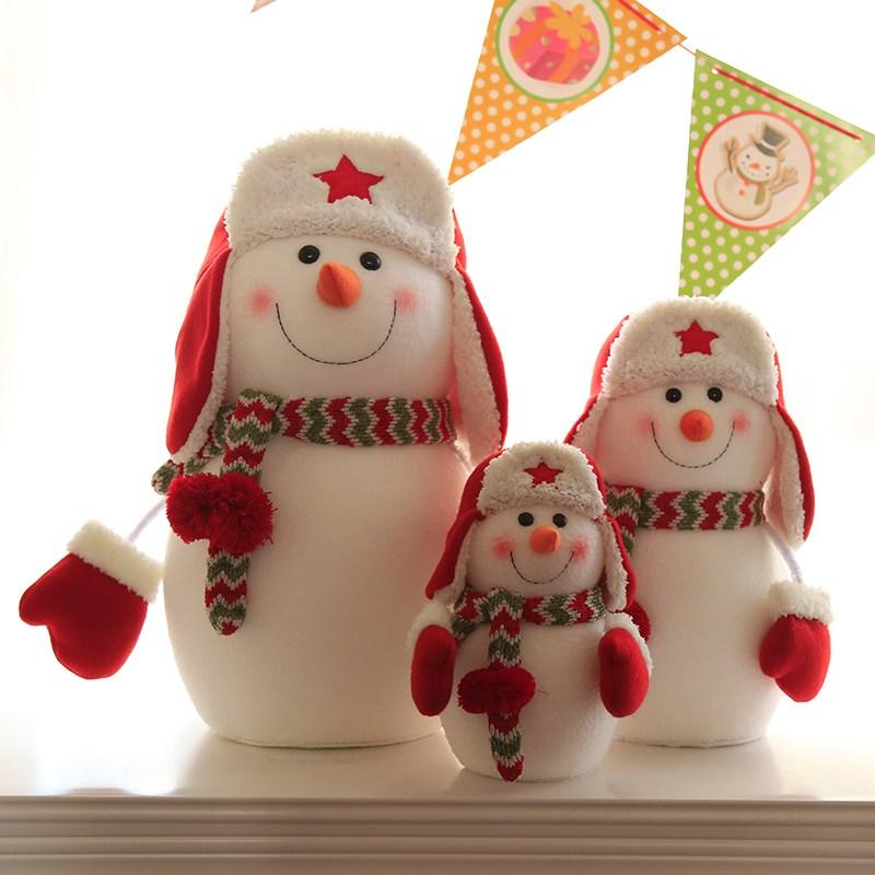 크리스마스 눈사람 가족 인형 3종 세트