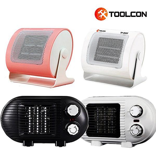 툴콘 18년형 미니 온풍기 팬히터 캠핑온풍기 전기히터, TP-800D(블랙)