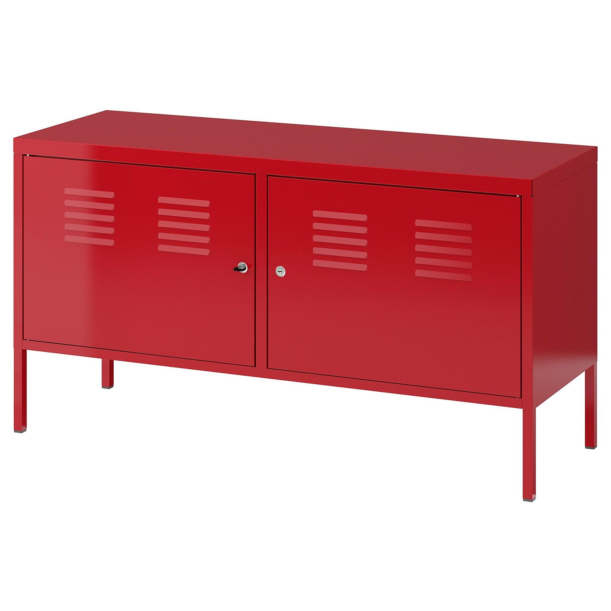 이케아 IKEA PS 철제 수납장, 레드 201.683.43