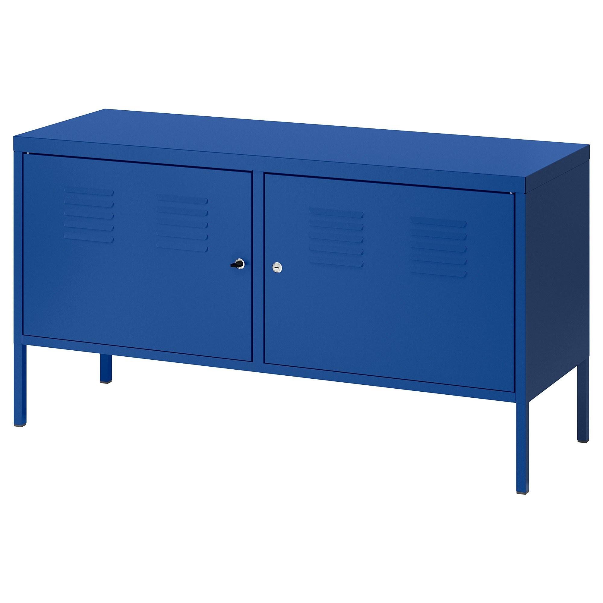 이케아 IKEA PS 철제 수납장, 블루 302.923.18