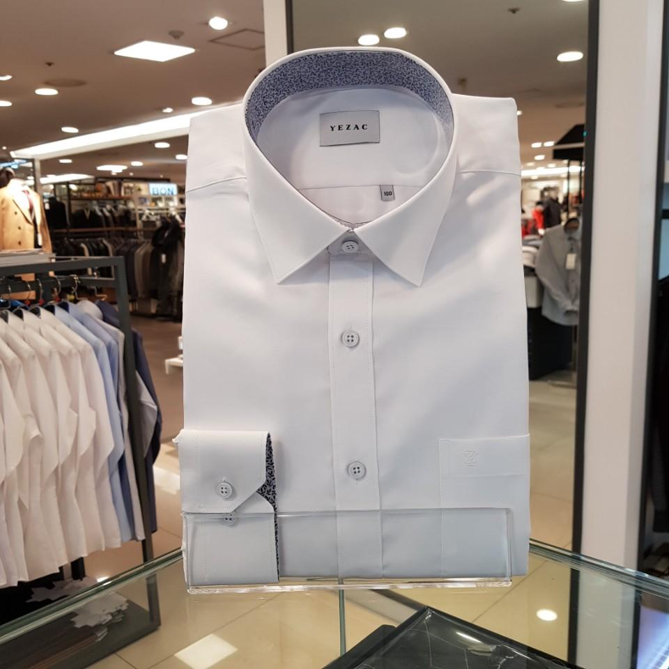[예작] 일반핏 솔리드 레귤러 카라 긴소매 와이셔츠 드레스 셔츠 YJ9SBR100
