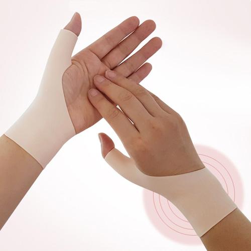 러브옥스 손목터널증후군예방 실리콘 손목보호대 화이트, 2p