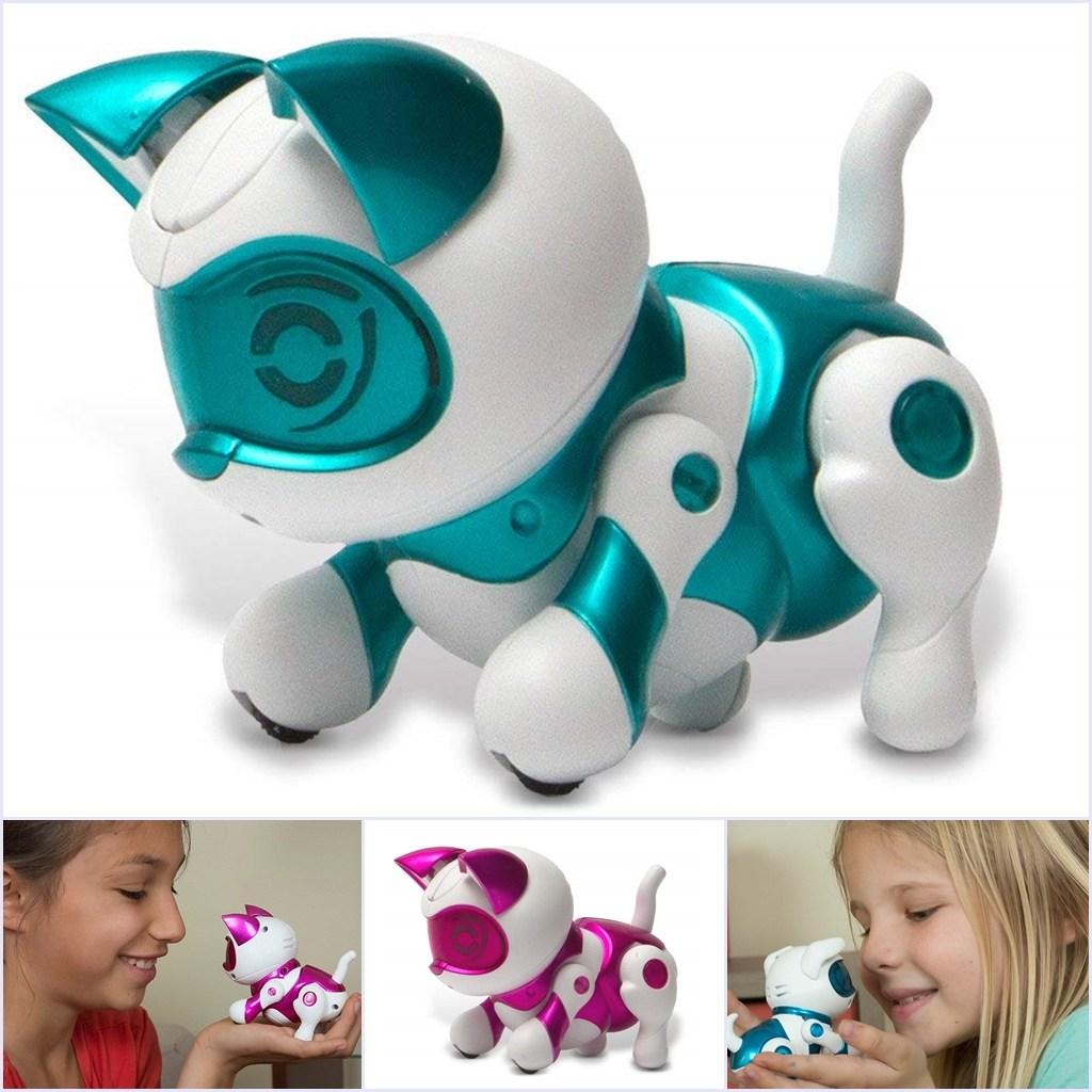 Tekno Newborns 인공지능 로봇강아지 로봇고양이 퍼피, Teal Kitty