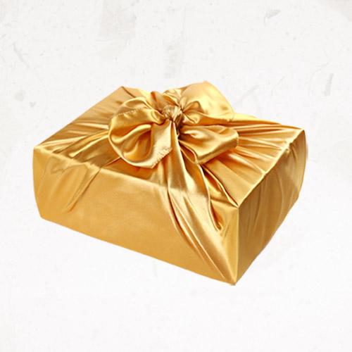 [글라라세상] 선물포장용 공단보자기 소(72x72cm), 금색, 1장