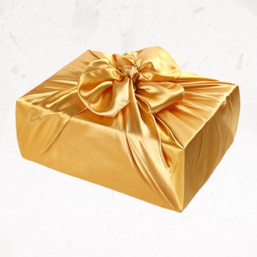 [글라라세상] 선물포장용 공단보자기 대(108x108cm), 금색, 1장