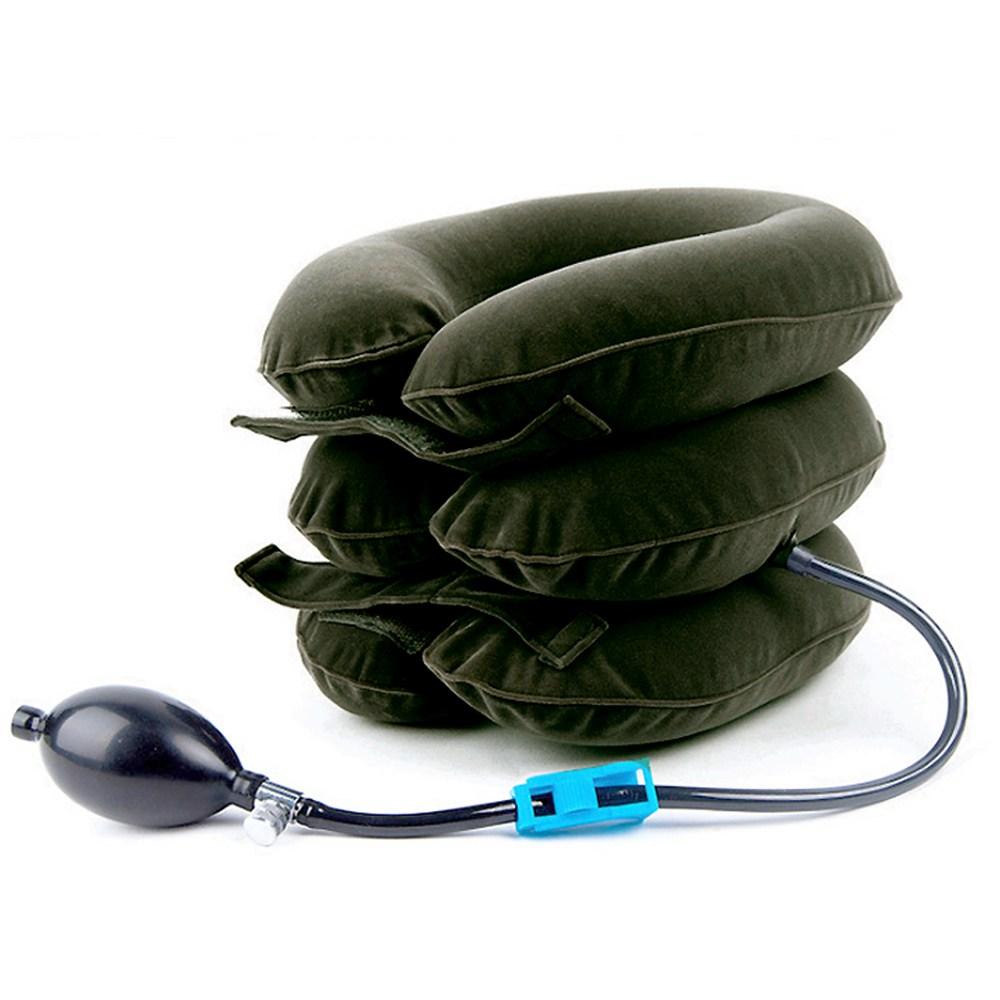 리안다 휴대용 3단목보호대 목견인기 에어조절-랜덤발송, 1개