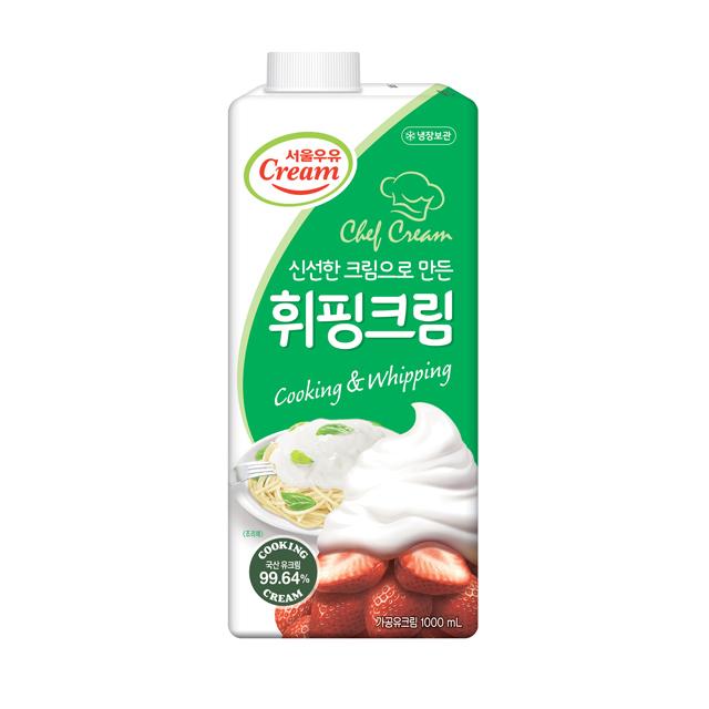 서울우유 동물성 휘핑크림 1000ml(아이스팩무료), 1개, 1000ml