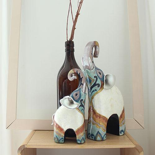 제이콥 돈을 부르는 기분좋은 코끼리 2p세트(컬러) 도자기 장식품