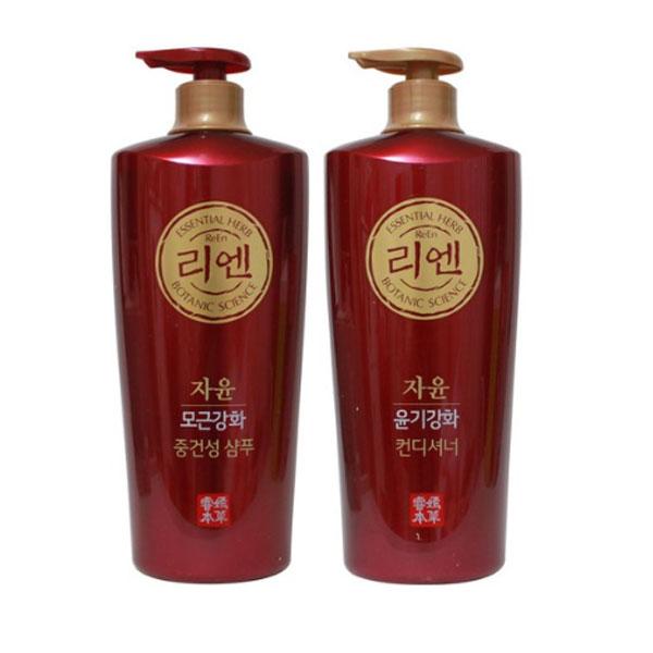 리엔 자윤(모근강화 중건성 샴푸 950ml+윤기강화 컨디셔너 950ml), 1세트