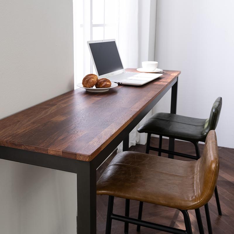 미즌하임 멀바우 원목 홈바테이블 의자세트, 1800사이즈 [의자색상-다크네이비]