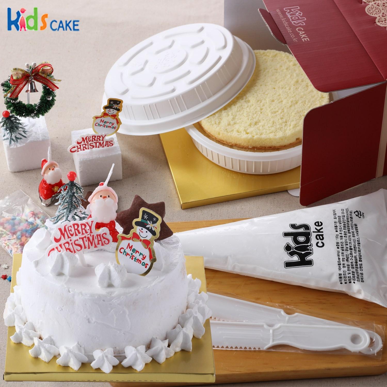 키즈케익 나만의 크리스마스 케익만들기세트!(미니), 1세트