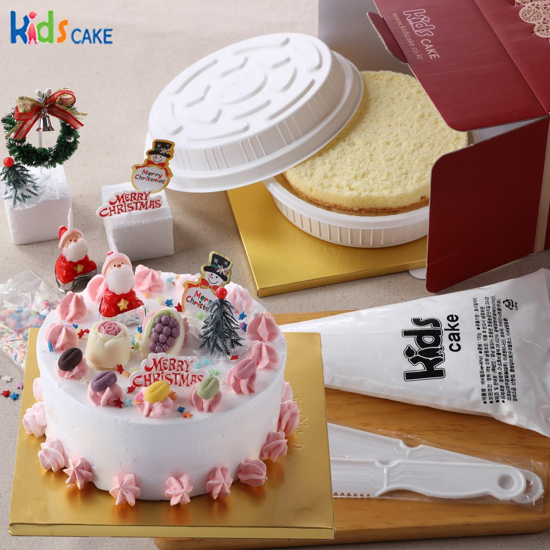 키즈케익 나만의 크리스마스 케익만들기세트!(1호초코데코), 1세트