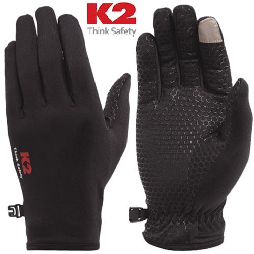 K2 정품 소프트쉘장갑 (간절기용), 블랙(Black)