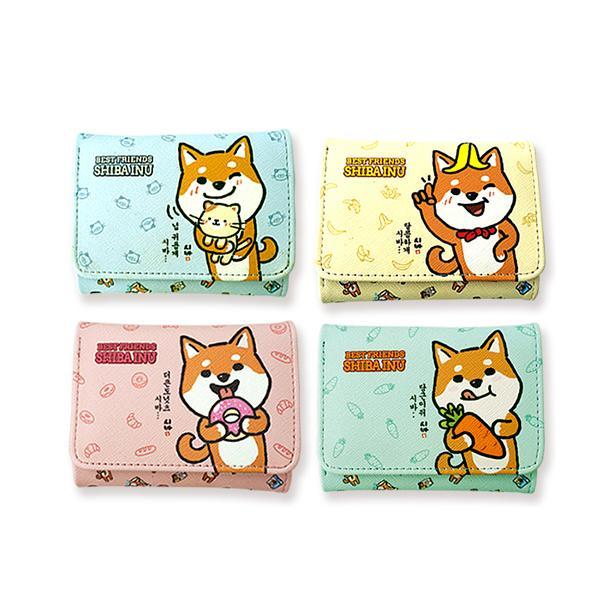 (2개묶음)라인아트 시바 캐릭터 3단 지갑 AWY-11659 아동지갑 캐릭터 파우치 지갑