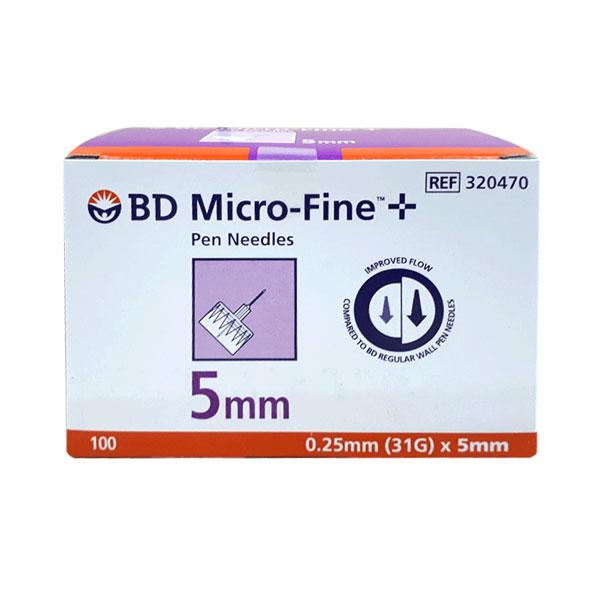 BD 펜니들 마이크로파인 5mm(31G) 100개 인슐린 주사바늘, 1개, 100개입