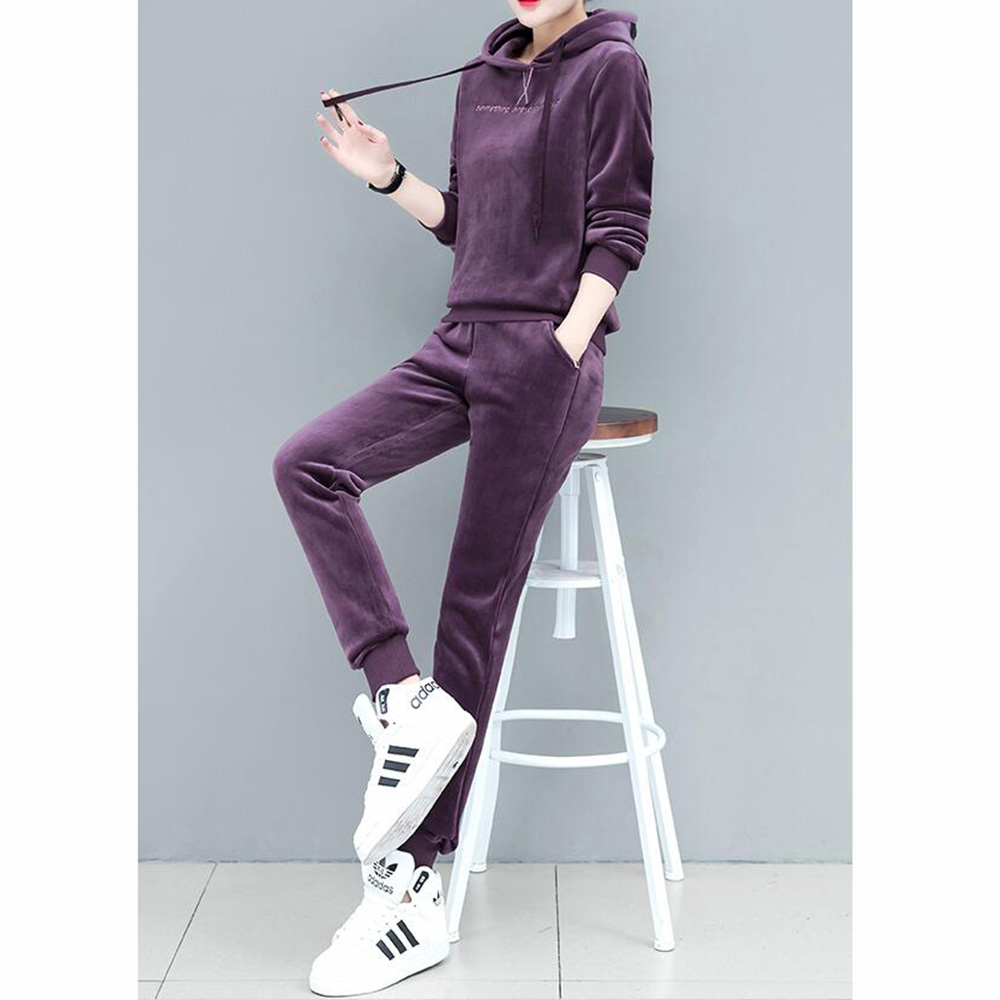 GM GM 여성 최신상 겨울 벨벳 운동복세트 Yj23i1