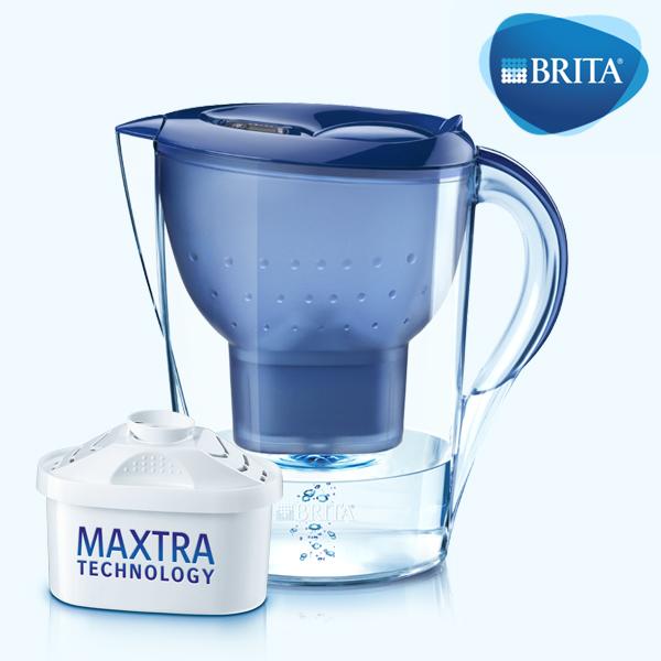 브리타 정수기 마렐라 XL 화이트 블루 3.5L 정식수입 국내, Marella 3.5L BLUE +1필터